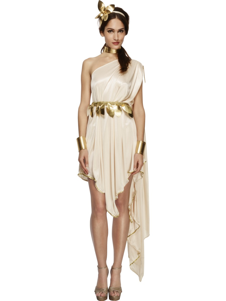 roman greek goddess costume ladies toga party fancy dress