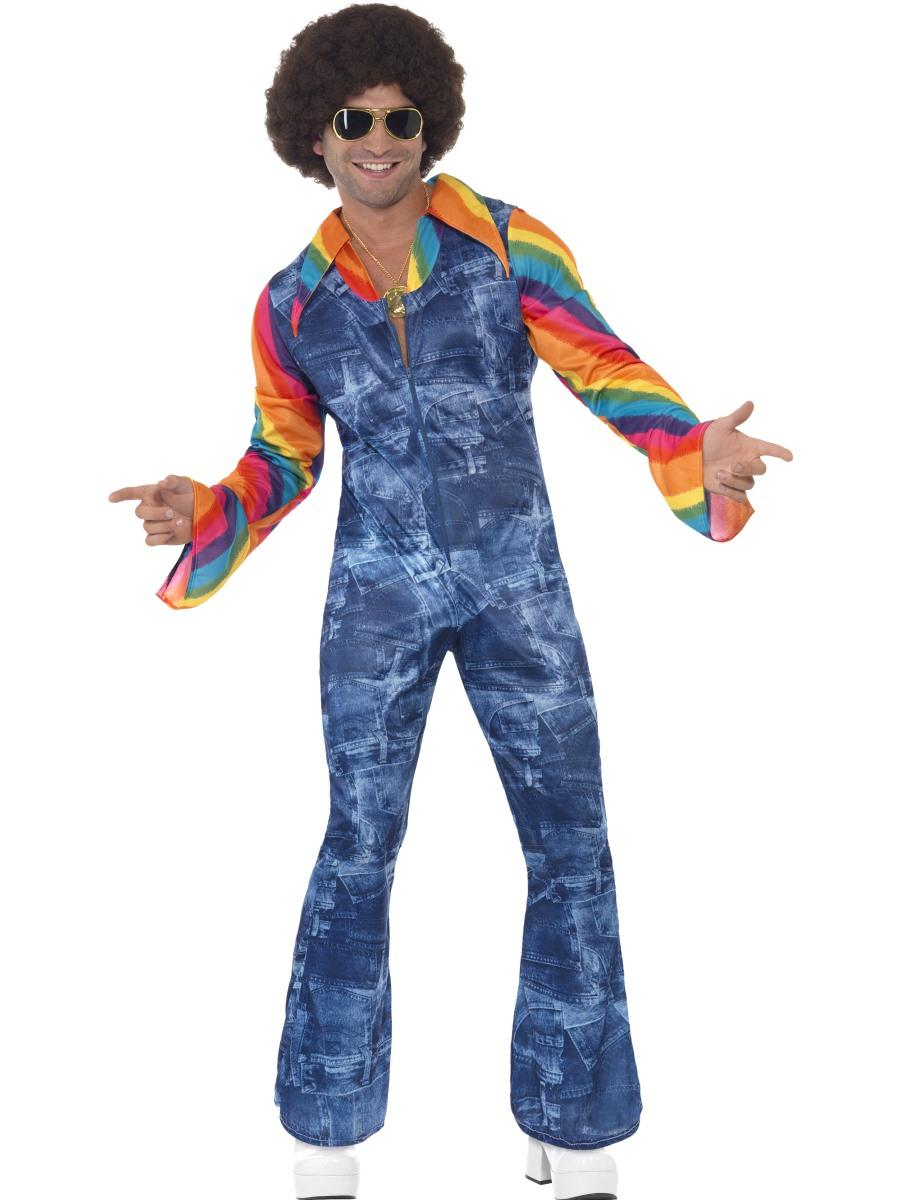 groovy dancer costume mens 1970s fancy dress disco costume m l ebay. Black Bedroom Furniture Sets. Home Design Ideas