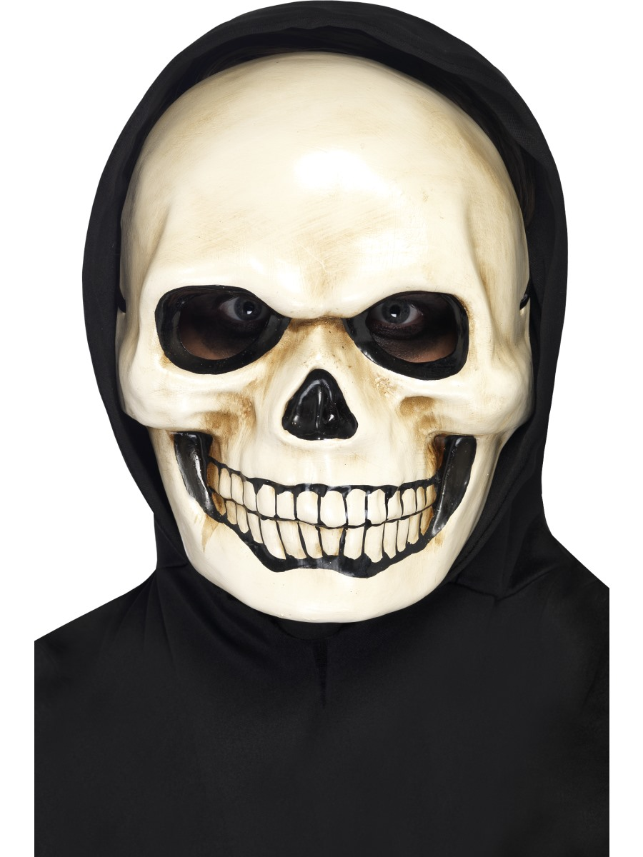 Skull Mask Halloween Fancy Dress Skeleton Face Mask Ladies Mens | eBay