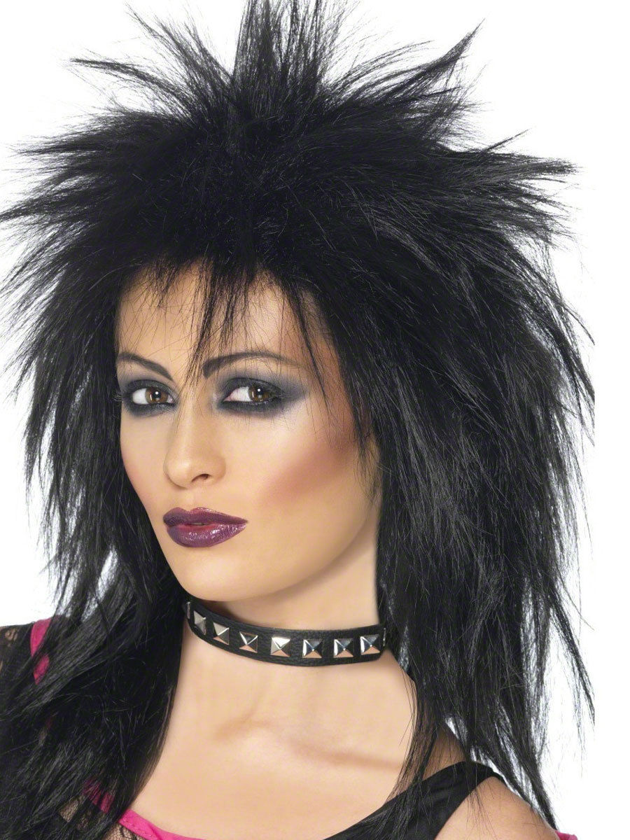 Rock Diva Wig 80s Mullet Punk Ladies Fancy Dress Costume Accessory | EBay
