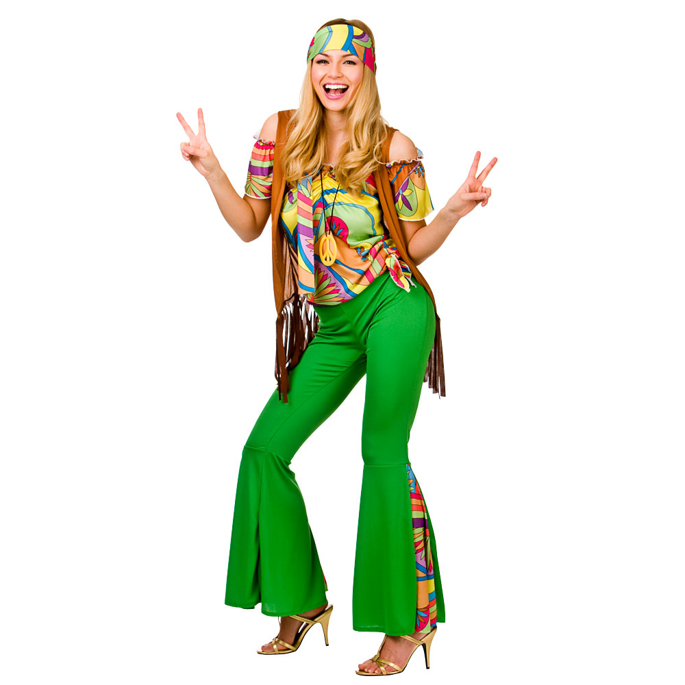 Strange Groovy Hippie Ladies Costume For 60S Mods Rockers Hippy Fancy Hairstyle Inspiration Daily Dogsangcom