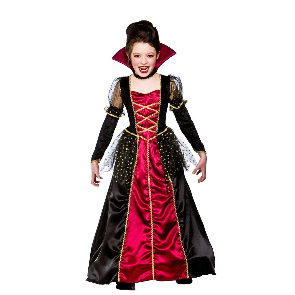 Halloween Girls Princess Fancy Dress Up Costume Outfits: Girls Vampira Princess Costume Vampire Halloween Kids