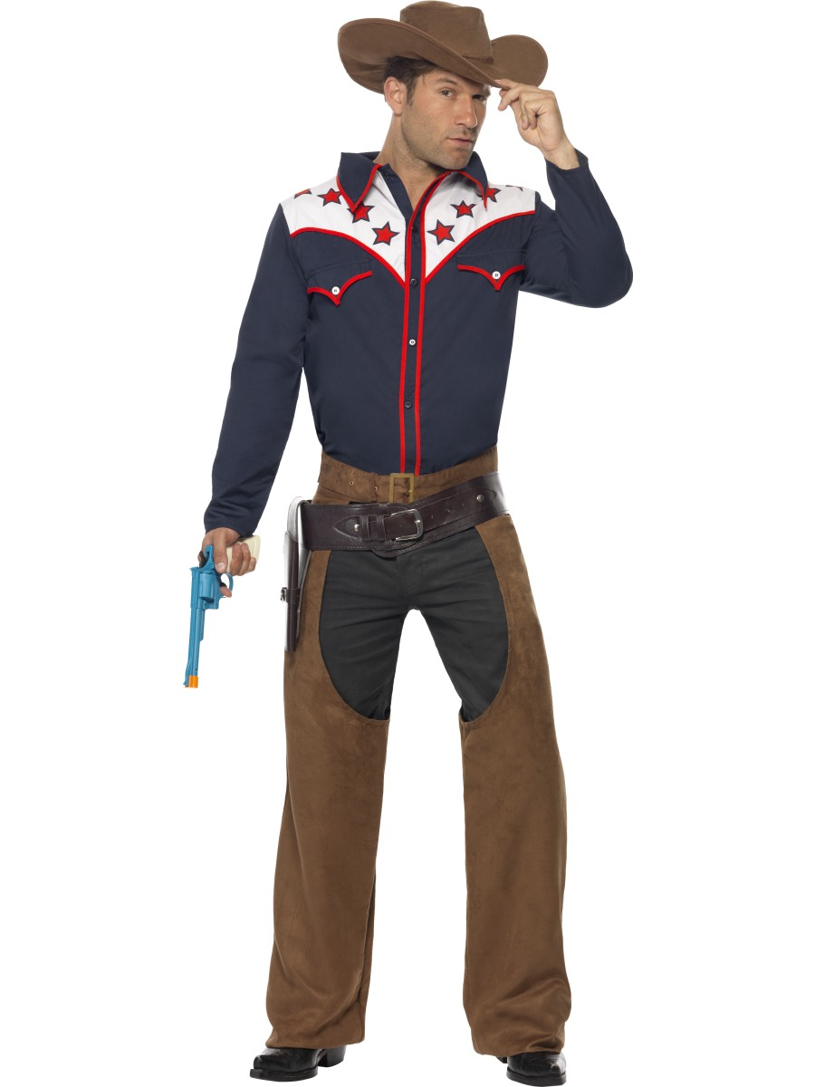 Rodeo-Outlaw-Costume-Mens-Texas-Cowboy-Fancy-Dress-  sc 1 st  eBay & Rodeo Outlaw Costume Mens Texas Cowboy Fancy Dress Outfit ML | eBay