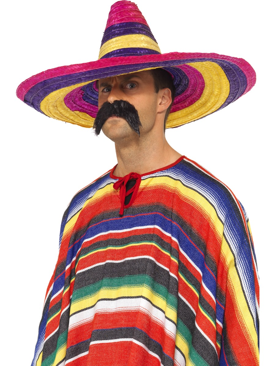 Mexican Poncho Mens Ladies Fancy Dress Accessory New ...