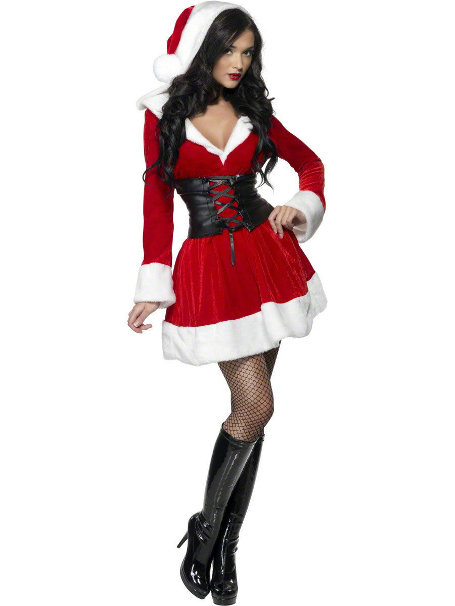 La Signora Babbo Natale Costume Da Donna Miss Natale Natale Costume UK 8-22