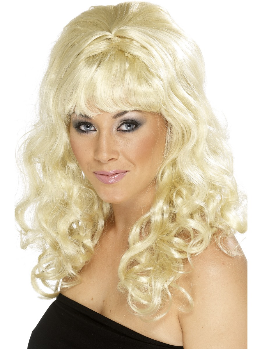 COUNTRY DIVA DOLLY PARTON STYLE BLONDE CURLY WIG