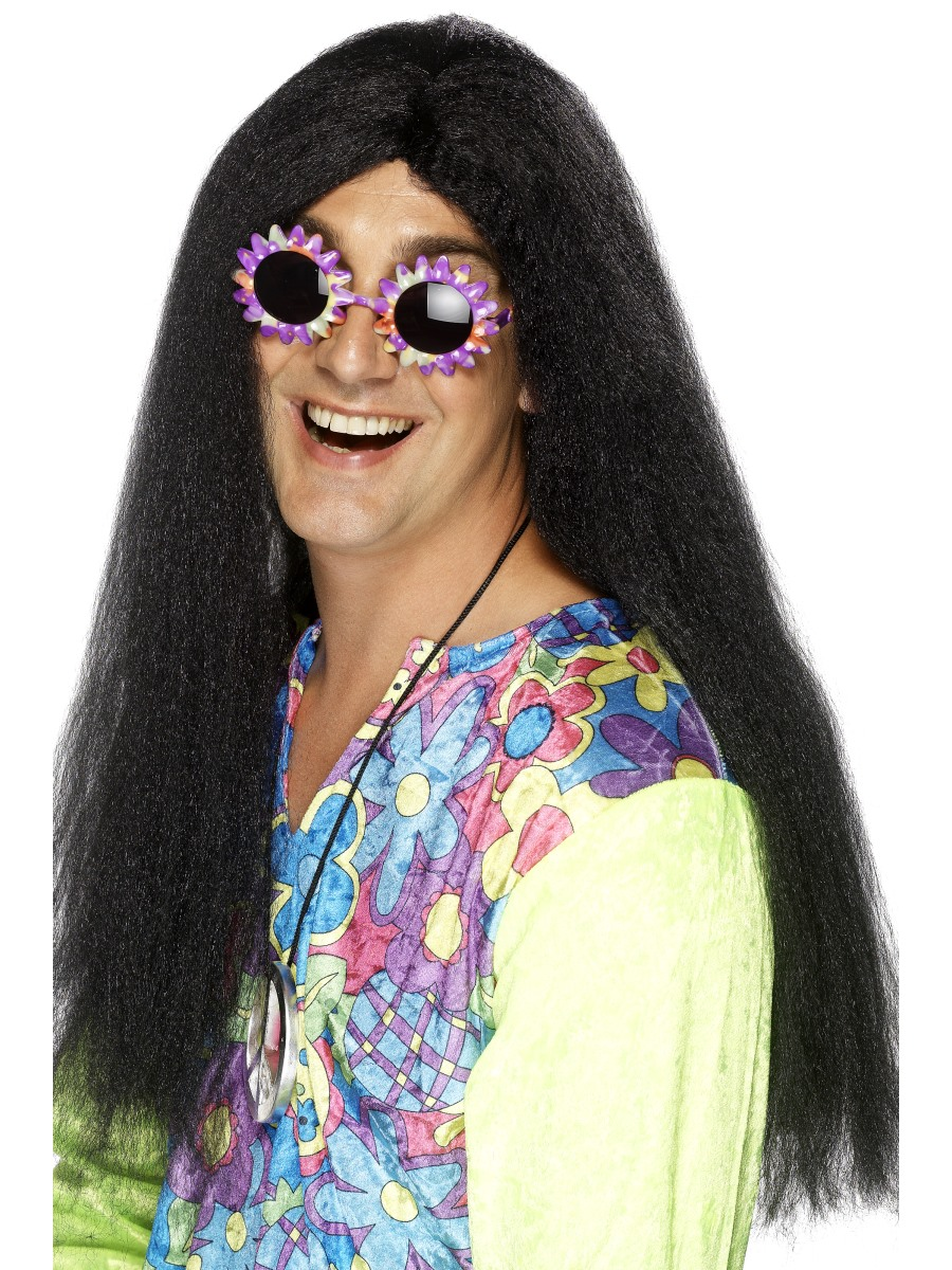60s Psychedelic Hippy Wig Adult Womens Smiffys Fancy Dress Costume Accessory