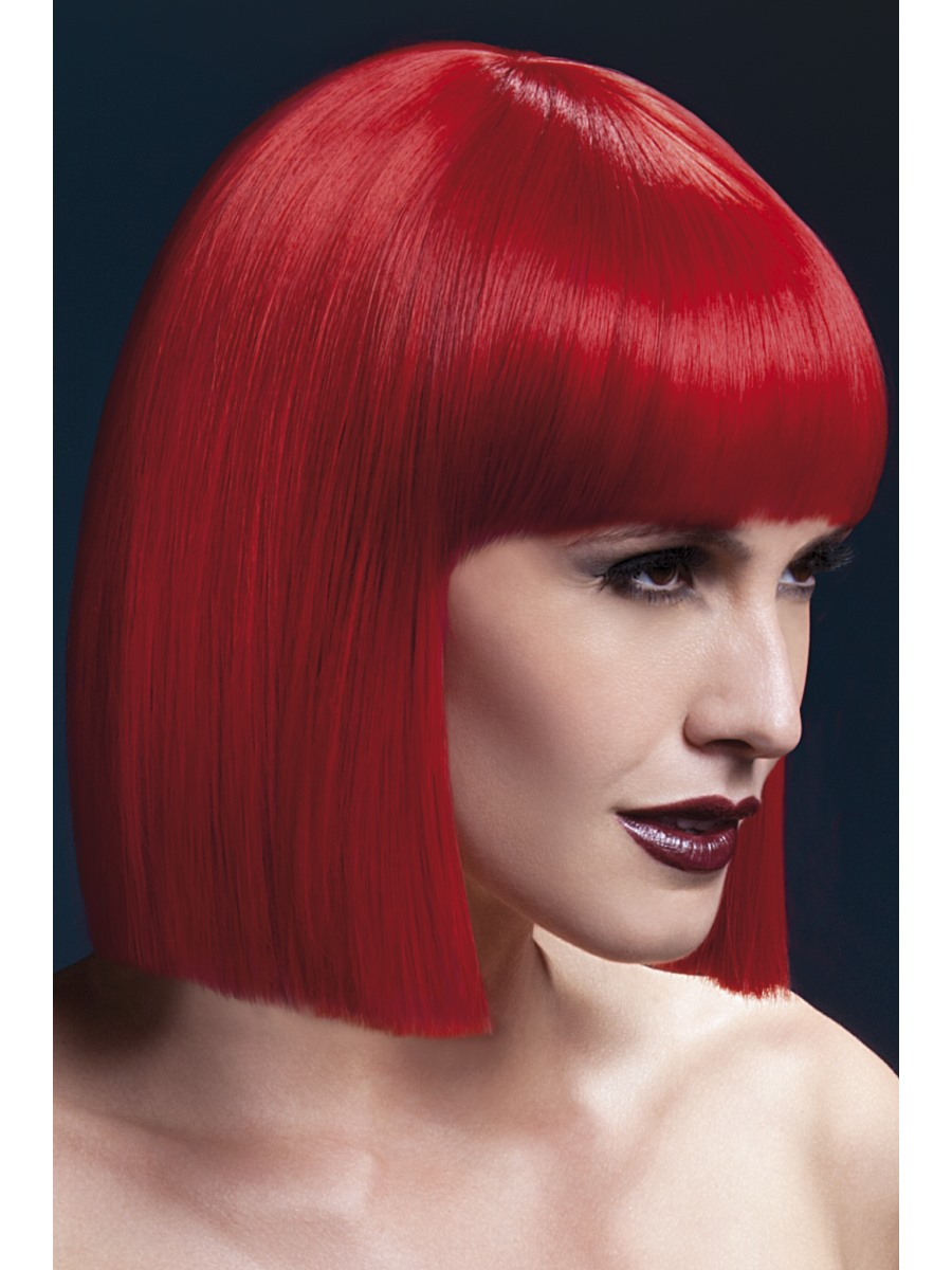 Heat Resistant Wig Washable Styleable Ladies Wig Fancy Dress Black Lola Bob Wig