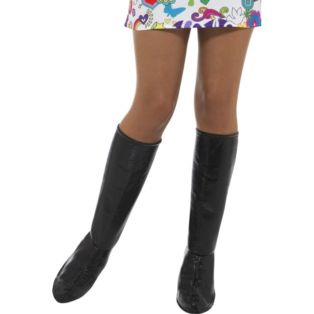 60s-70s-PVC-Gogo-Boot-Covers-Knee-High-Ladies-Fancy-Dress-Accessory