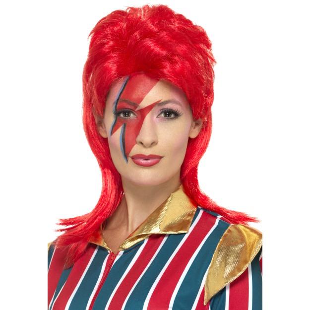 Ziggy Stardust Wig Adult Rock Star Halloween Fancy Dress