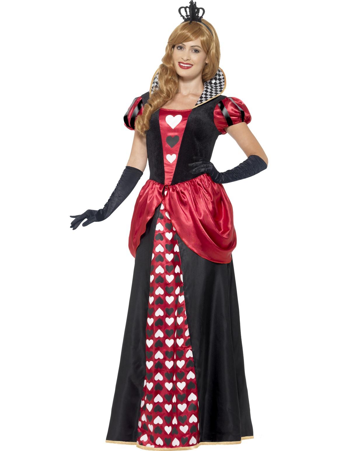 Queen-Of-Hearts-Alice-In-Wonderland-Ladies-Costume-Fairytale-Fancy-Dress