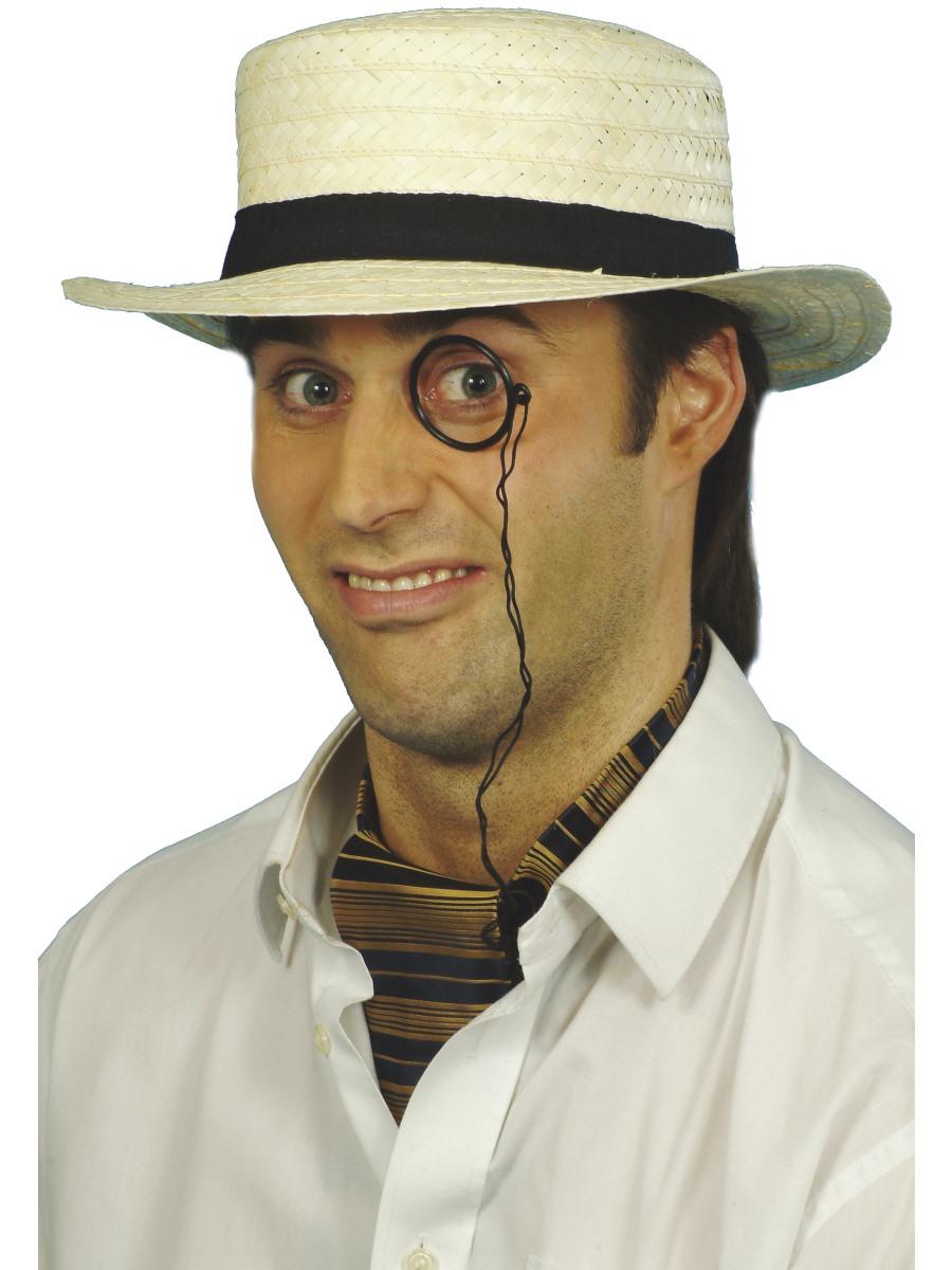 7eb5ec49e02 Details about Straw Boater Hat Mens Fancy Dress Accessory School Boy Hat