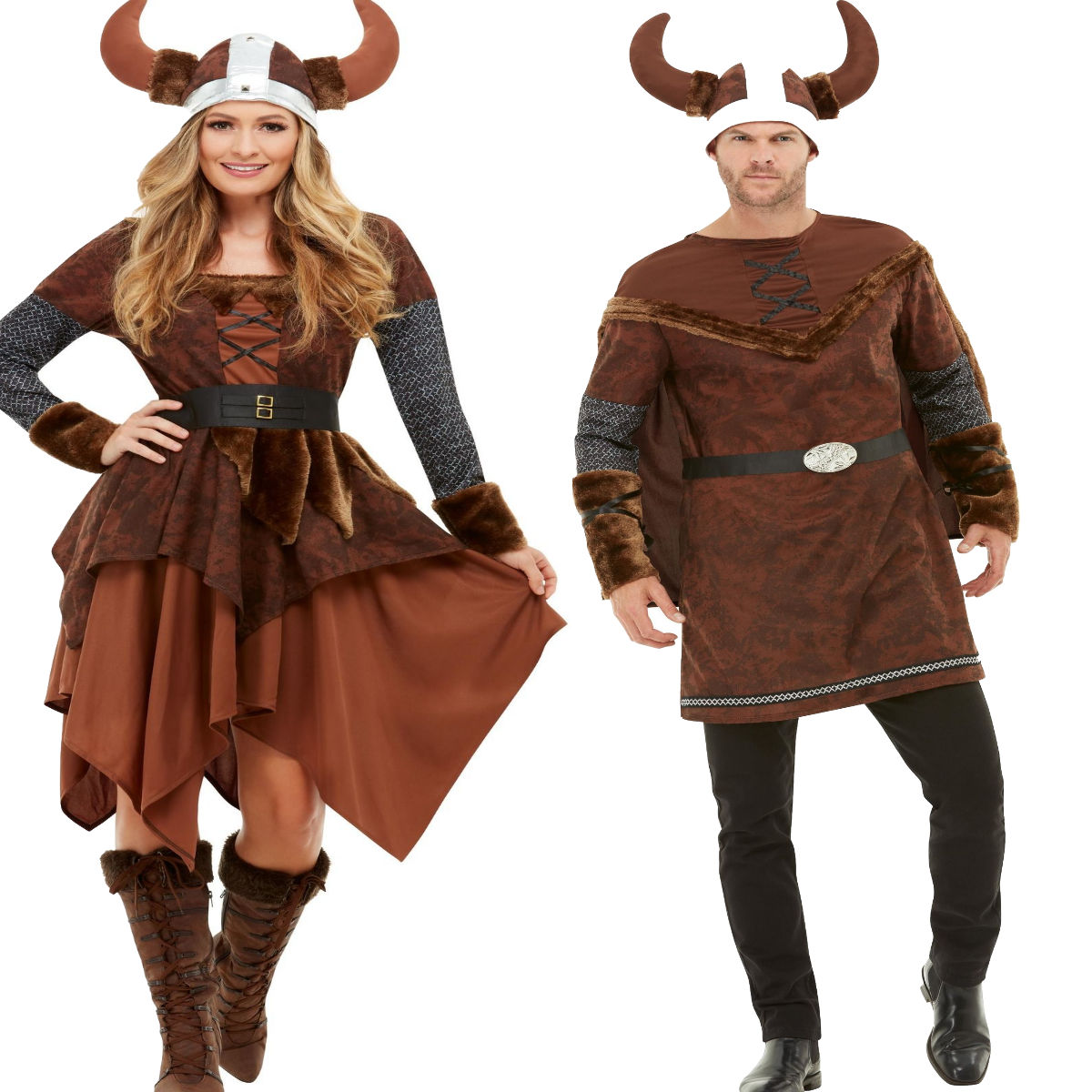 Adults Viking Barbarian Mens Ladies Costume Medieval Warrior Fancy