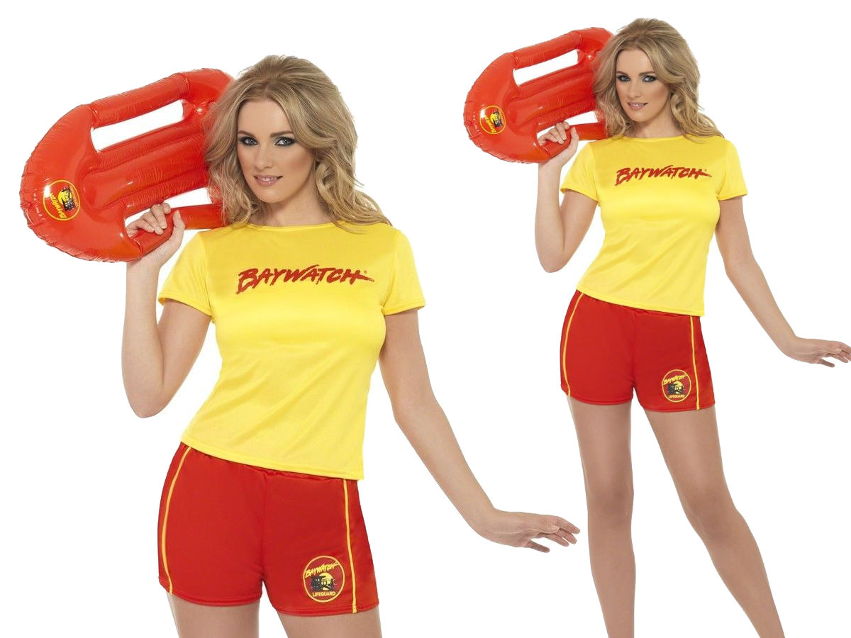Baywatch Lifeguard Costume Womens Ladies Beach Babe Hen Party Fancy Dress Outfit