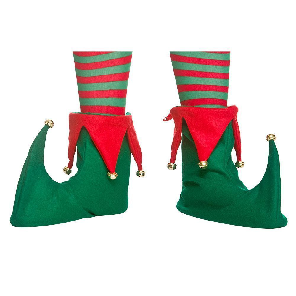 Adults Elf Boots Shoe Covers Xmas Pixie Jester Slippers