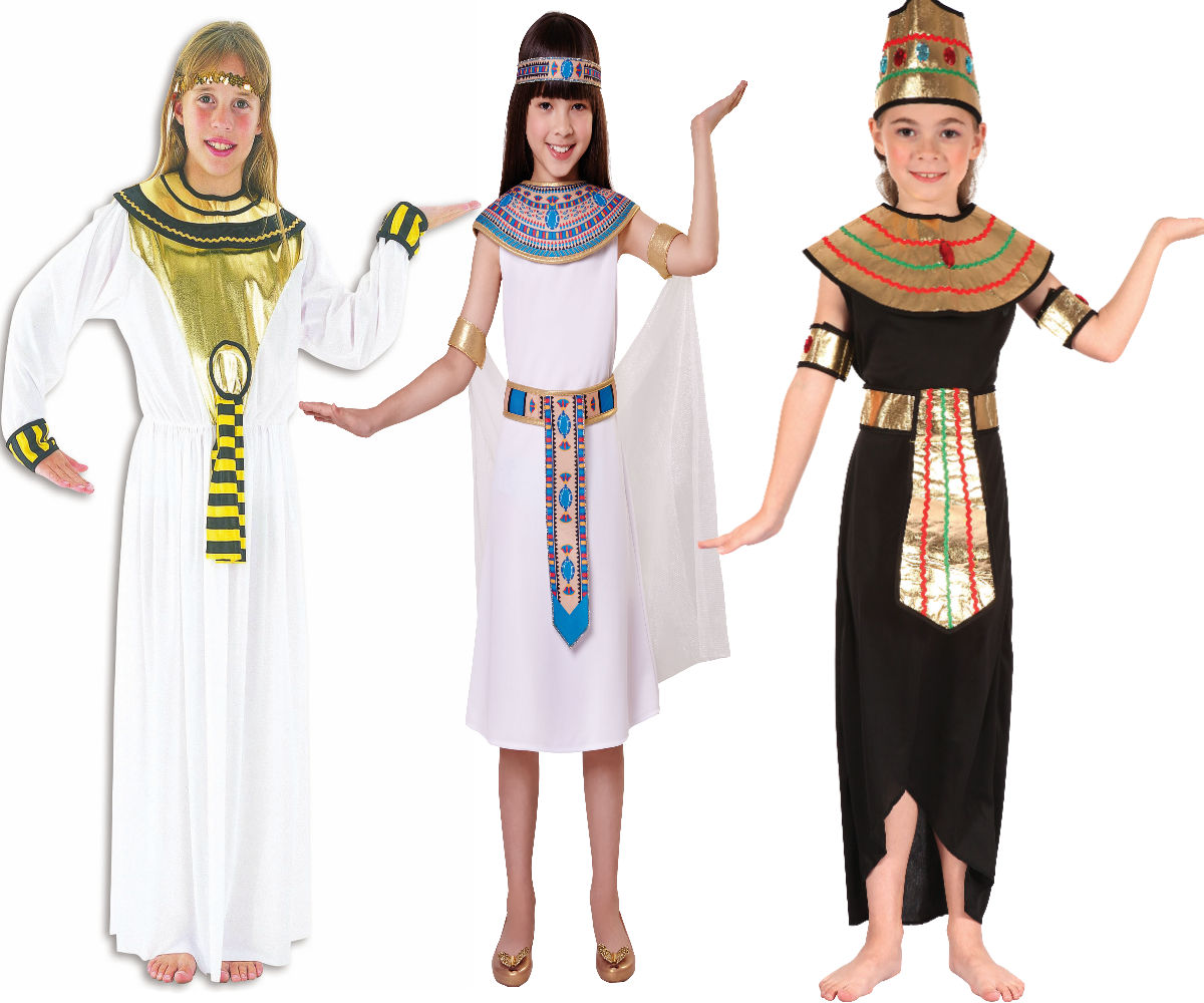 Cleopatra Egyptian Girls Fancy Dress Costume All Ages