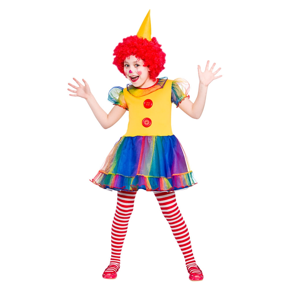 Child-Girls-Cute-Clown-Costume-Kids-Circus-Fancy-  sc 1 st  eBay & Child Girls Cute Clown Costume Kids Circus Fancy Dress Outfit New 3 ...