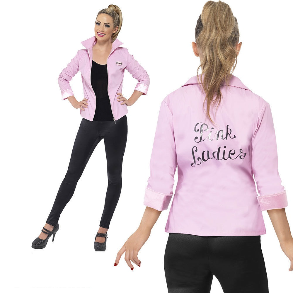 Détails sur Deluxe Pink Lady Femmes Veste Grease Frenchy Fantaisie Robe  Costume UK 8,18, afficher le titre d\u0027origine