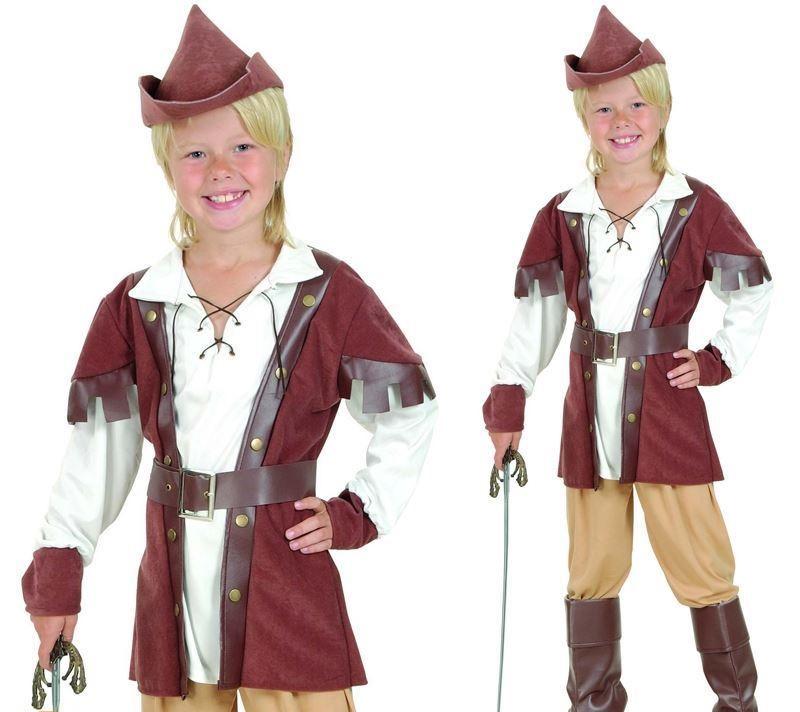 BAMBINO COSTUME Robin Hood BAMBINI LIBRO SETTIMANA Deluxe piccole