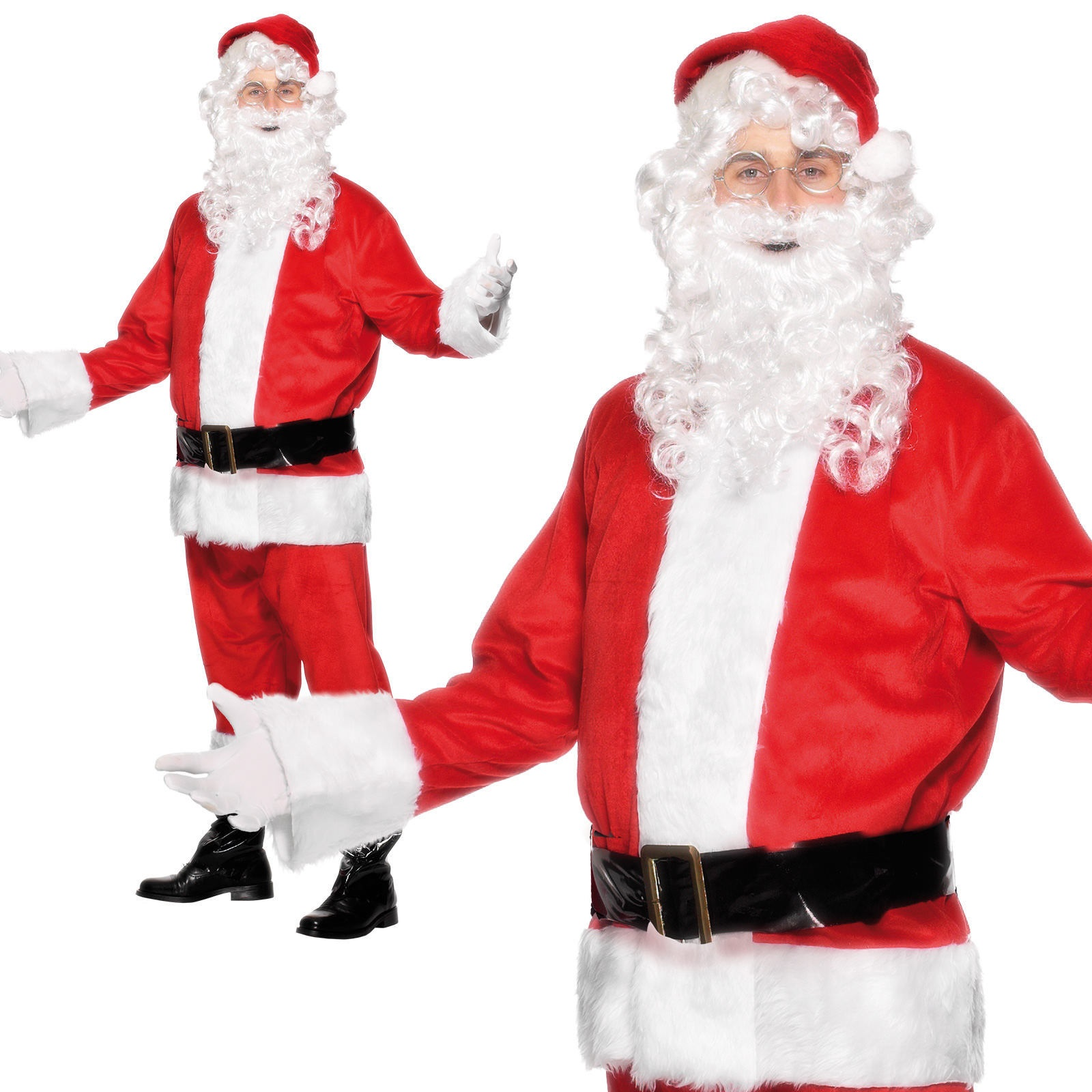 e4f0a5102c Image is loading Mens-Deluxe-Father-Christmas-Costume-Santa-Claus-Suit-
