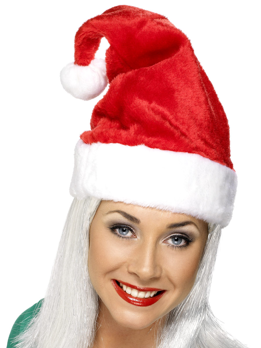 20c9dee151c0e Details about Adults Mens Womens Deluxe Santa Hat Christmas Fancy Dress  Accessory
