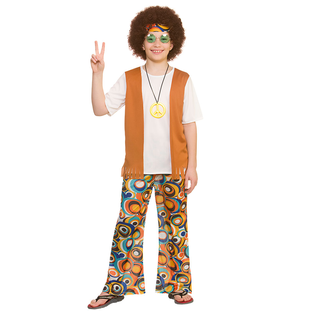 cool hippie boys fancy dress costume 60s 70s hippy