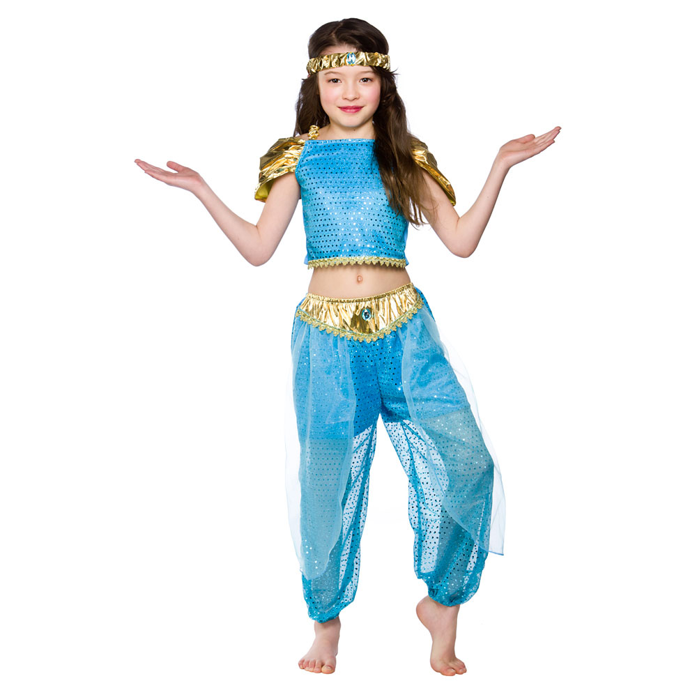 Girls Arabian Princess Costume Fancy Dress up Party Halloween Outfit ...
