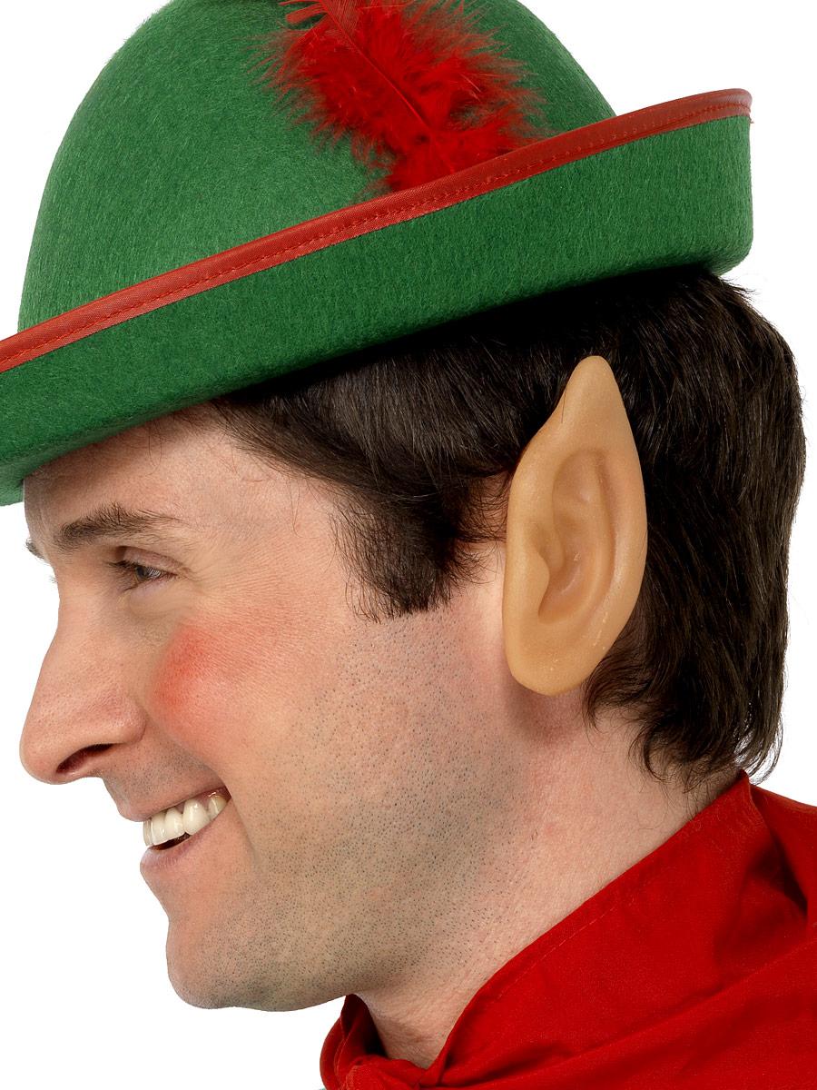 SOFT VINYL POINTED ELF EARS MENS LADIES CHRISTMAS FANCY DRESS