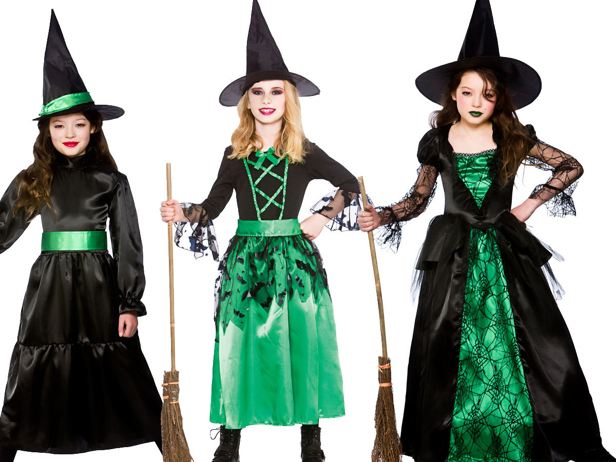Diy Halloween Costumes For Girls Age 11 13.Details About Girls Halloween Witches Fancy Dress Costume Witch Outfit Kids Age 3 13