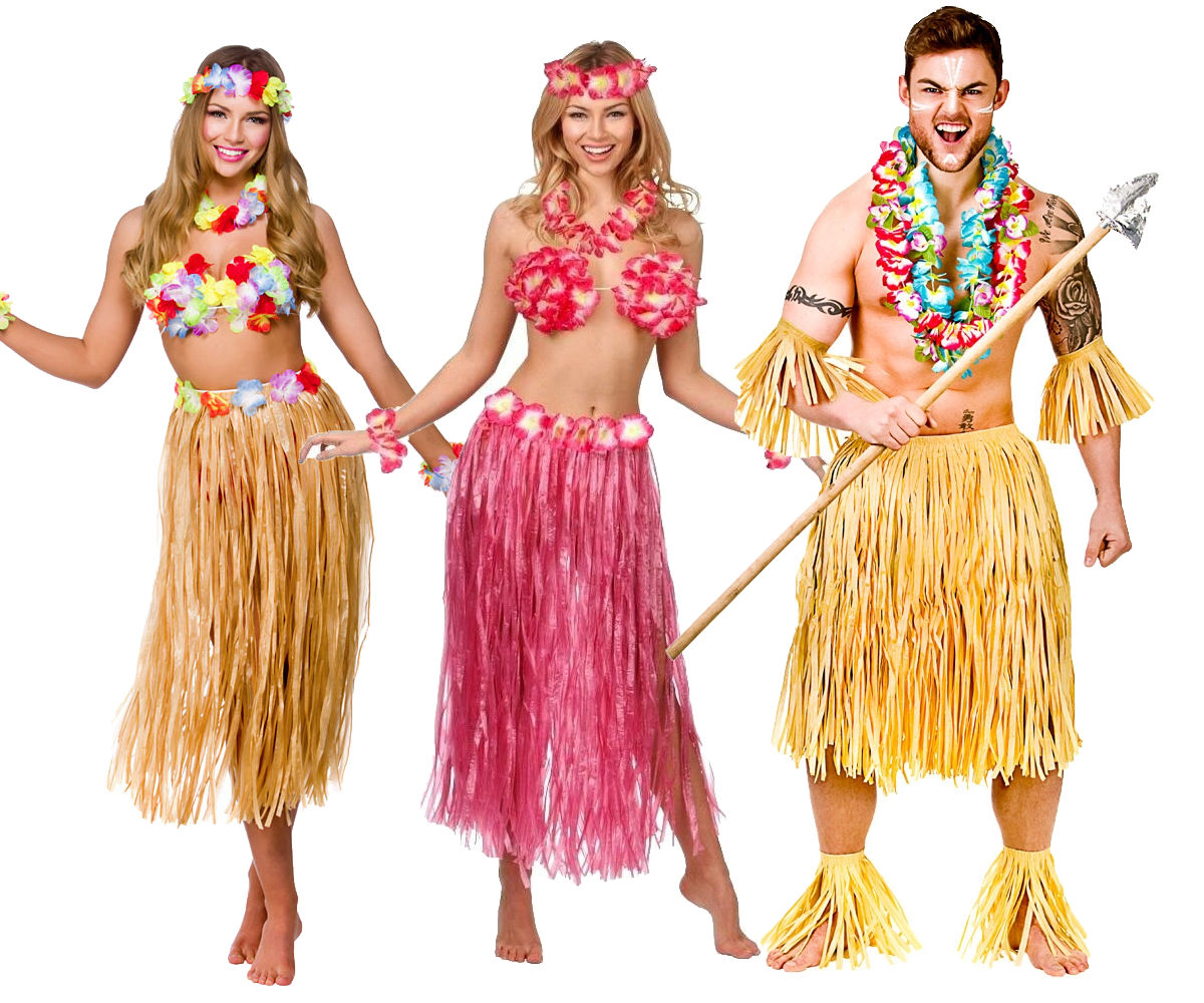 172fcf51be Details about Hawaii Party Kit 5pc Costume Outfit Hawaiian Fancy Dress  Beach Party Mens Ladies