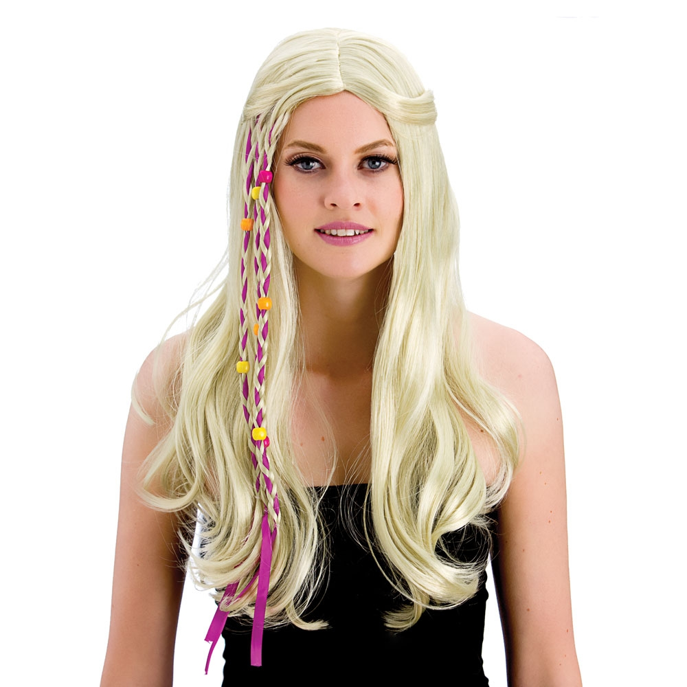 Details about 1960s Blonde Long Groovy Hippie Wig Party Beads Womens Fancy  Dress Hippy New 0c08c43f5b