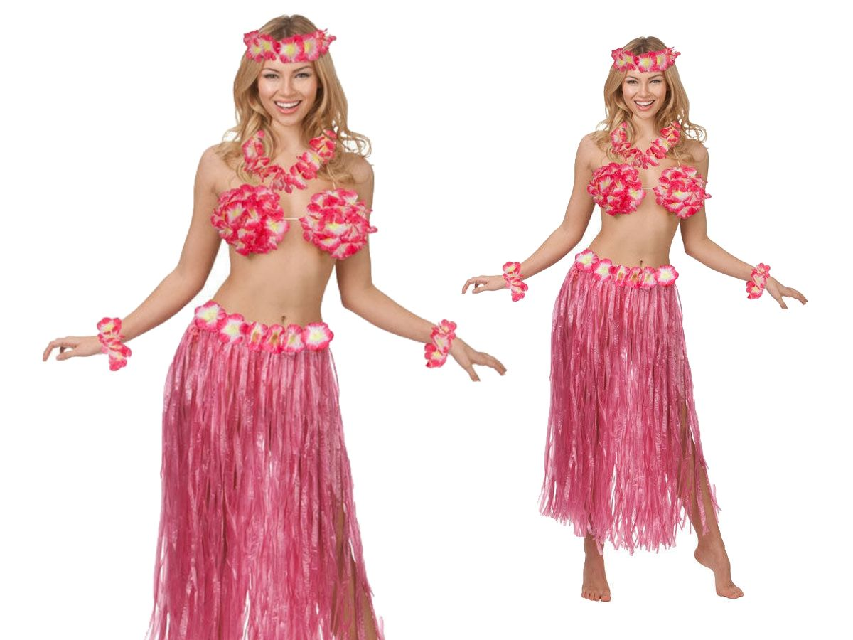 Hawaii Party Kit 5pc Costume Outfit Hawaiian Fancy Dress Beach Party ...