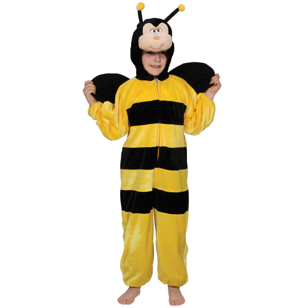 bumble bee costume kids insect black yellow jumpsuit boys girls fancy dress ebay