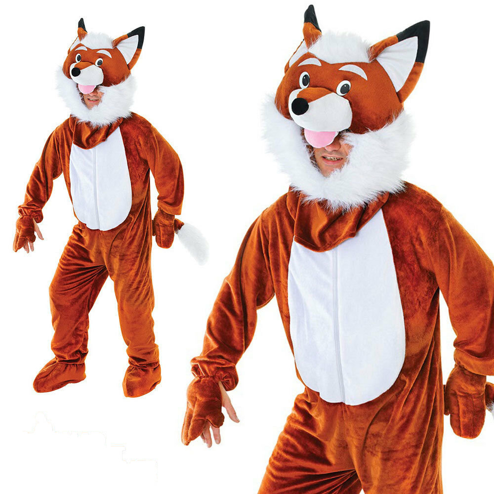 Deluxe Adult Animal Big Head Fancy Dress Costumes Funny Unisex Mascot Farm Book