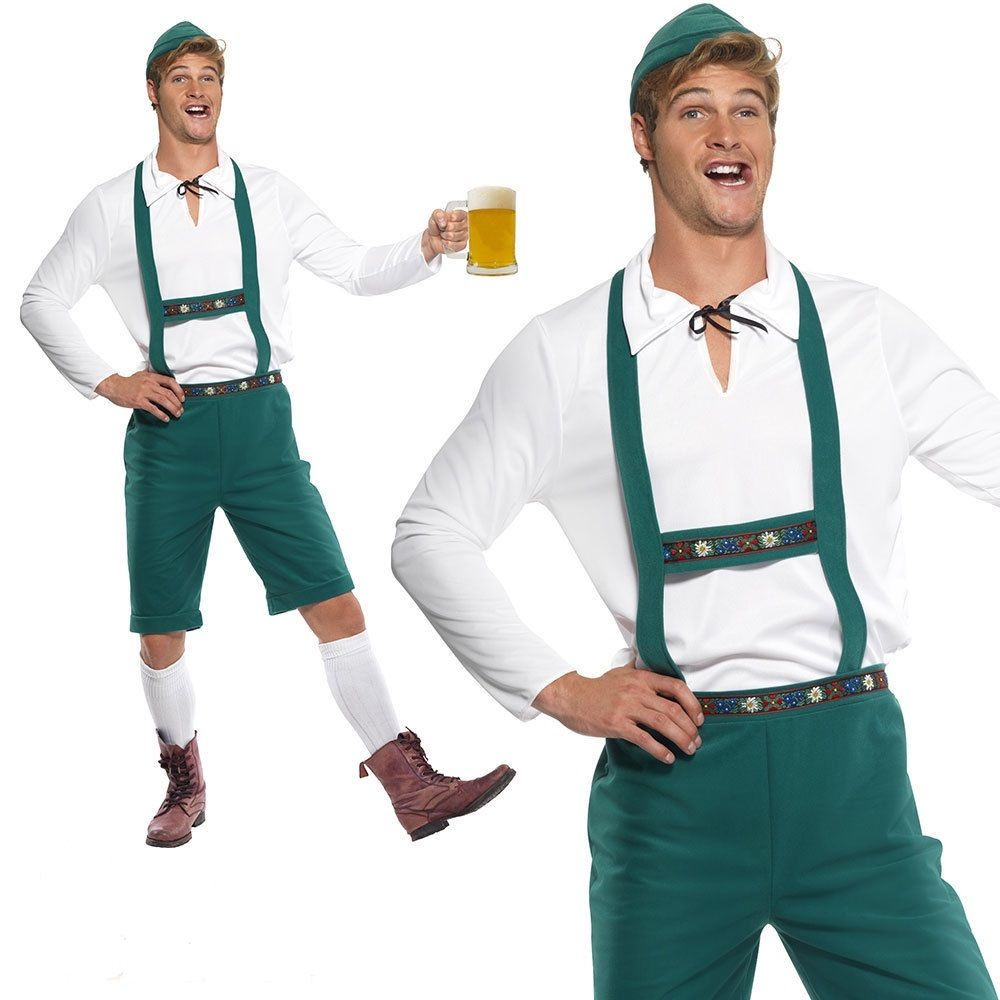 adult oktoberfest costume german lederhosen festival fancy. Black Bedroom Furniture Sets. Home Design Ideas