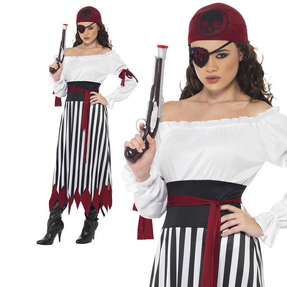 Bandana Donna Costume Pirati Accessorio Costume Da Donna Pirata Lady Parrucca