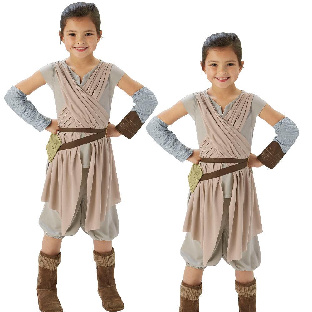 Rey Costume Kids Star Wars The Force Awakens Halloween Fancy Dress