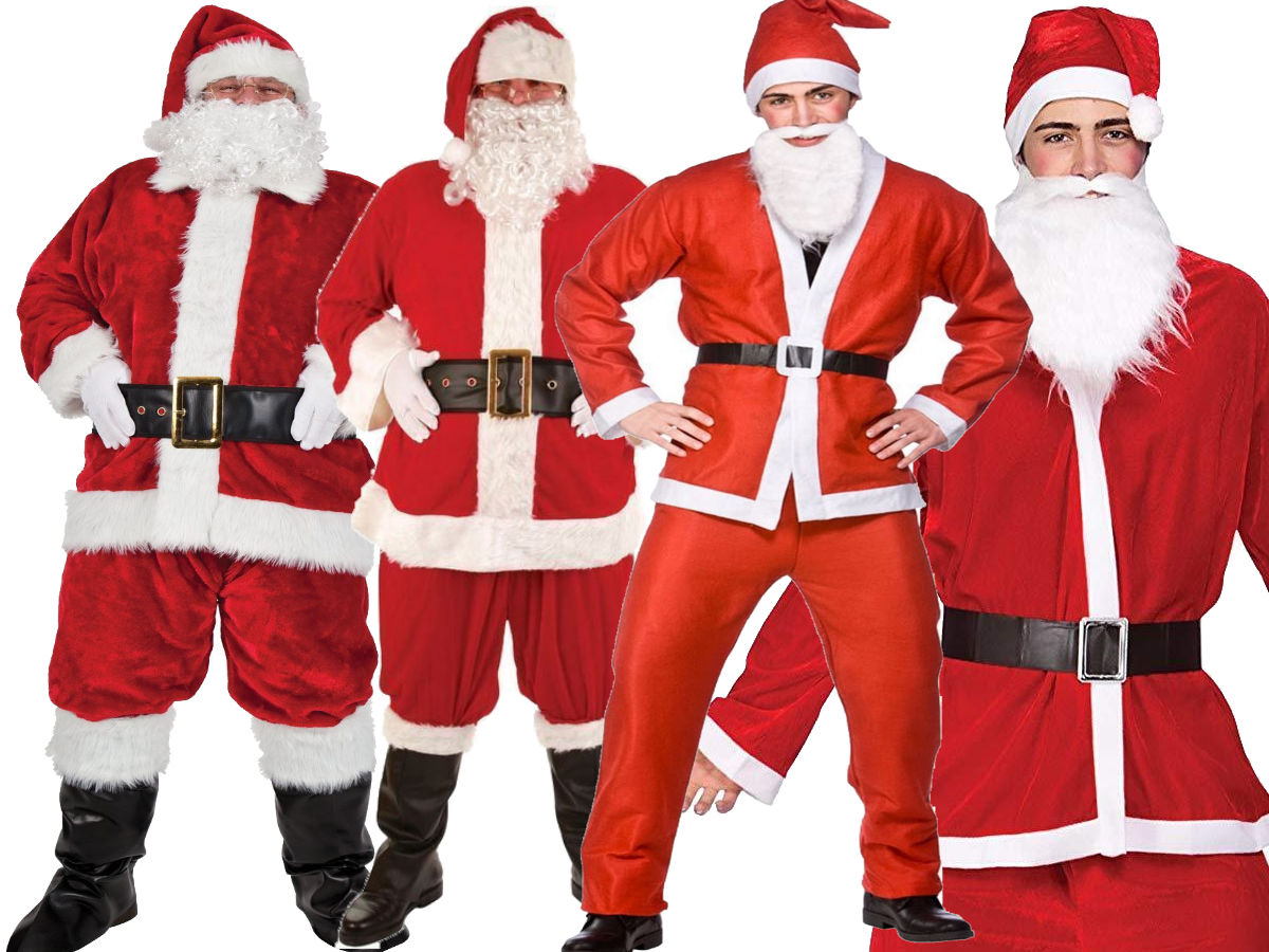 Plus Size Christmas Costumes.Details About Santa Claus Costume Father Christmas Suit Mens Adult Fancy Dress Outfit Deluxe