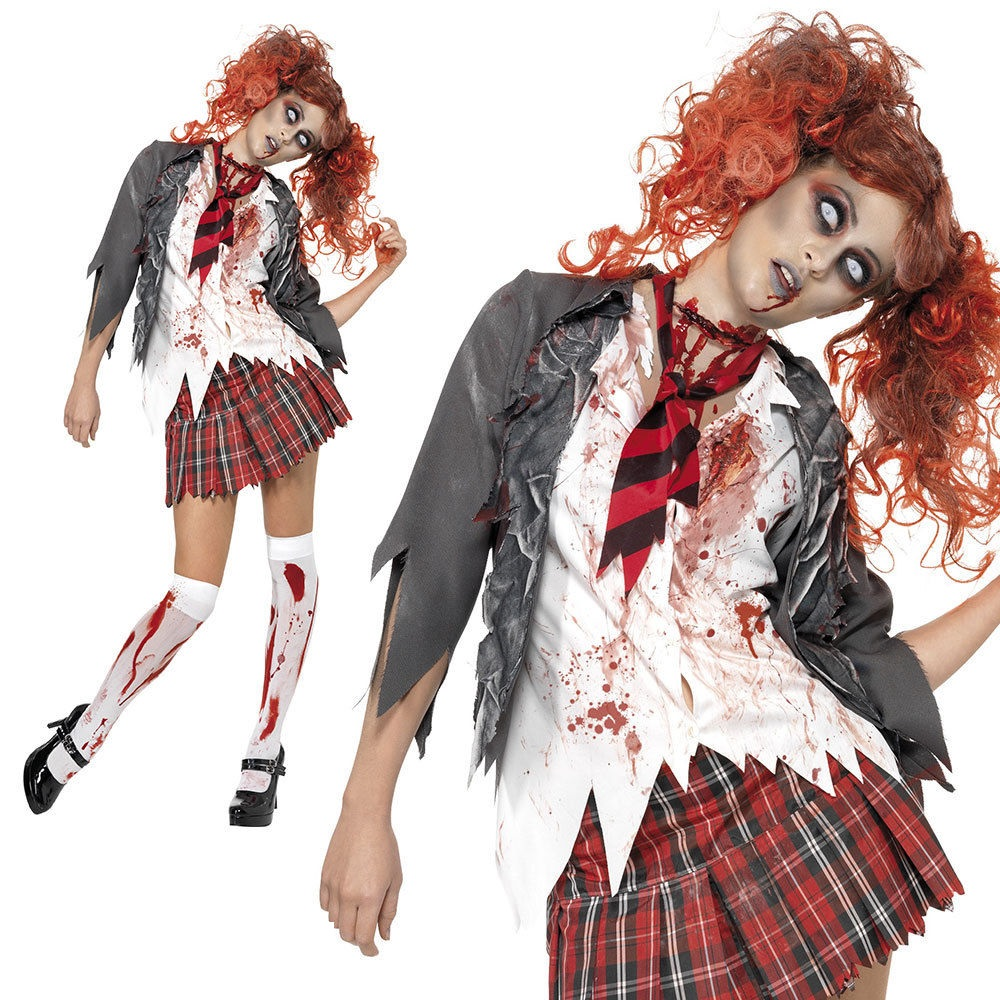 Vendita HORROR High School-Ragazze Cheerleader Zombie Halloween Costume