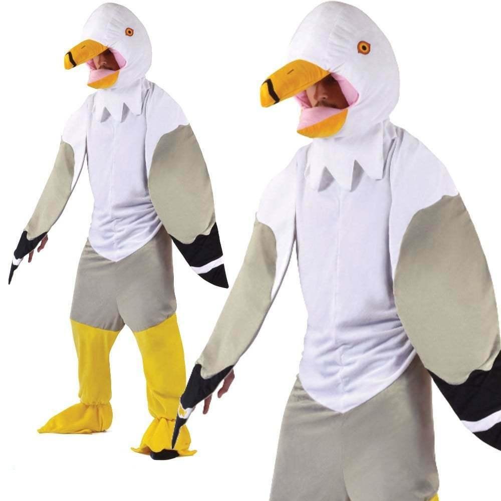 Seagull Big Head Nautical Animals /& Nature Adult Fancy Dress Costume