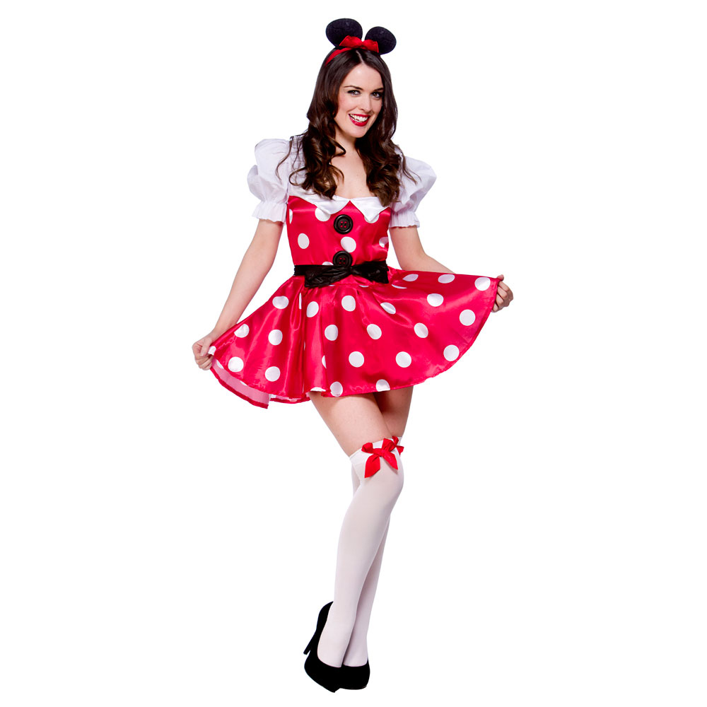 Womens Naughty Micky Mini Minnie Mouse Fancy Dress Costume Hen Night ...