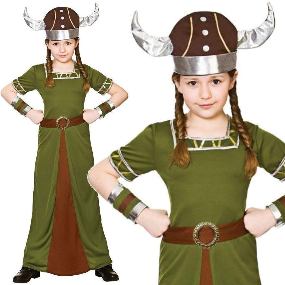 Brand New Viking Girl Warrior Child Costume
