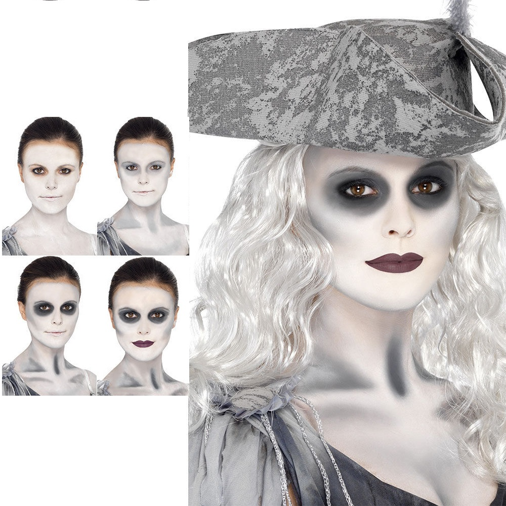 Ghost Ship Make Up Adults Halloween Fancy Dress Pirate Costume Face Paint Kit